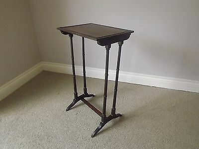 Antique Mahogany Table Regency Faux Bamboo Would Have Been One Of A Set Of Four