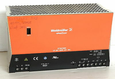 Weidmuller 8778870000 CP SNT 500W 24V 20A Power Supply