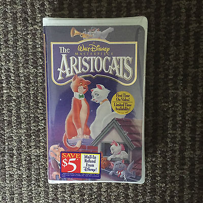 Walt Disney Masterpiece The Aristocats Vhs In Sealed Package