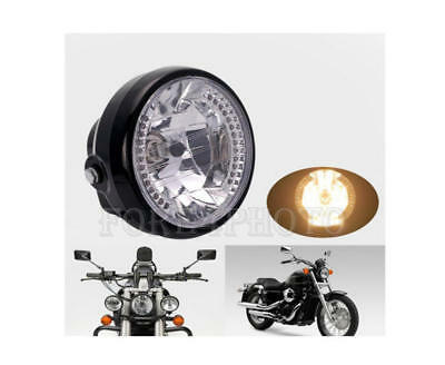 "Universal Motorcycle Headlight 7"" LED Turn Signal Indicators Head Light Bulbs"