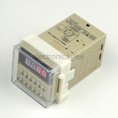 AC220V Programmable Double Time Timer Delay Relay Device Digit LED display