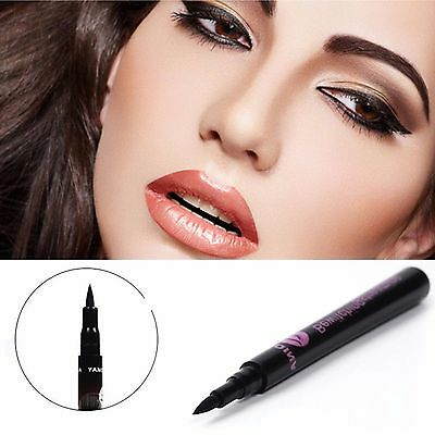 Liquid Eyeliner Stift Lidstrich Waterproof Make-Up Schwarz Damen NEU