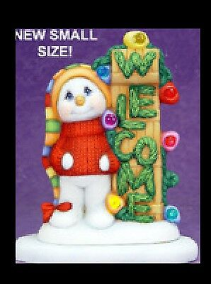 Ceramic Bisque Small Welcome Snowman, U Paint