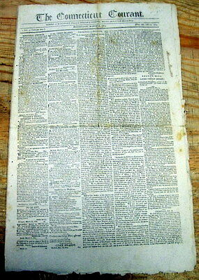 1804 newspaper THOMAS JEFFERSON to Raise Taxes + LOUISANA PURCHASE Settlement