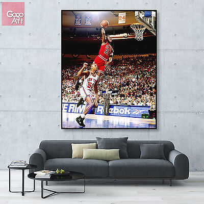 Canvas print wall art photo big poster Michael Jordan nba dunk mvp Chicago bulls