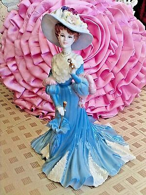 """lady Sara ""  Rare  Coalport  Outstanding Masterpiece  Figurine  Vibrant Colors"