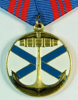 Russian Navy Medal - Fleet Honour Fatherland - Anchor St Andrew's Cross + Doc