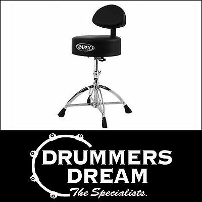 Mapex T770 Drum Stool / Throne W/ Back Rest * Brand New *