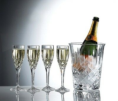 NEW Royal Doulton Champagne Set Ice Bucket & 4 Flutes. Great Gift!