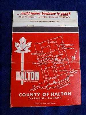 Halton County Build For Business Advertising Ontario Vintage Matchbook