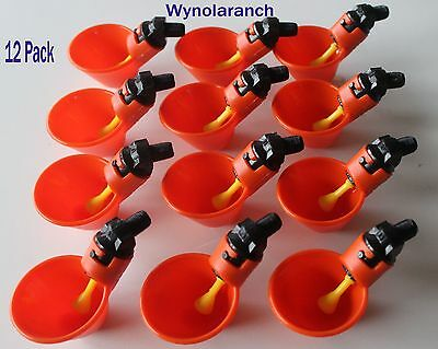 12 Pack Poultry Water Drinking Cups Chicken Hen Plastic Automatic Drinker,quail