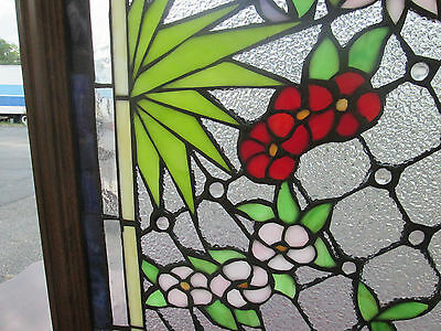 WIN MWW Modern Reproduction STAINED & TEXTURED GLASS WINDOW IN FRAME