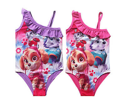 Cute Girls Swimming Costume Swimsuit One-piece Swimwear Paw Patrol for 3-8Y