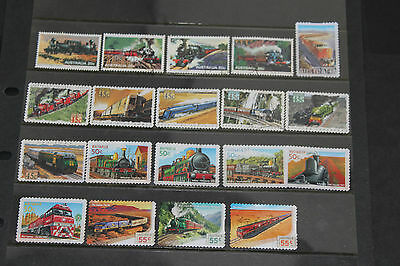 Bulk Lot Aust Trains.locomotives Themed Stamps X 19 Sets & Singles F/u