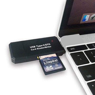 3 IN 1 OTG Micro USB 2.0 Adapter SD/TF Card Reader HUB For MacBook Type-C