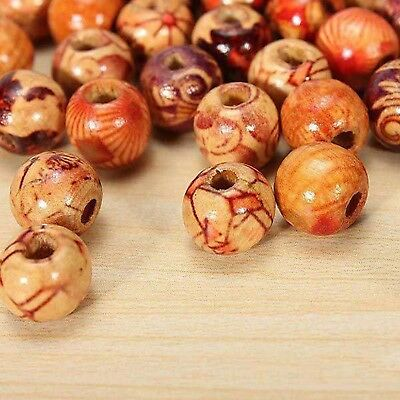 10 x Large Antique Style Mixed Wooden  Loose Spacer Beads (TB610Y)