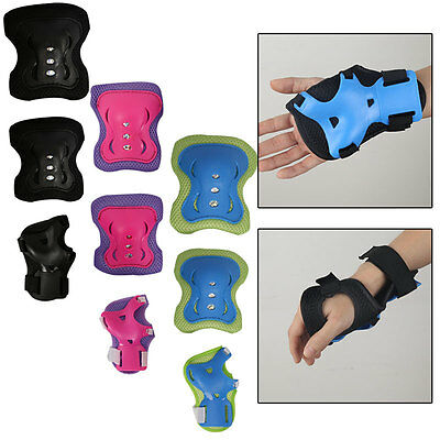 Kids Roller Skate Skating Sport Gear Safety Knee Elbow Wrist Protective Gear Pad