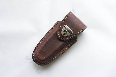 Victorinox Brown Leather Pouch  4.0533 Case Swiss Army Folding Knife