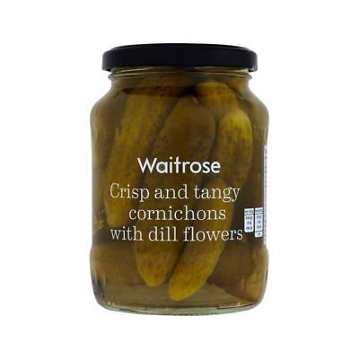 Pickled Cornichons with Dill Flower Waitrose 340g