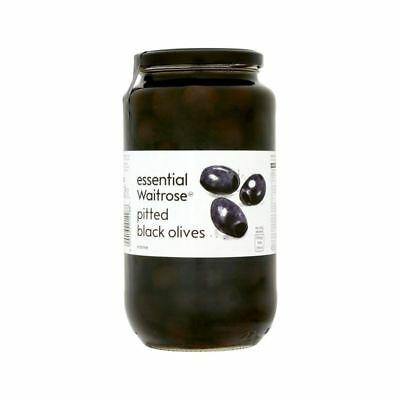 Pitted Black Olives Waitrose 935g