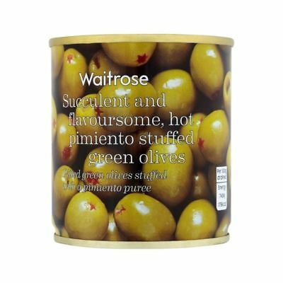 Hot Pimento Stuffed Olives Waitrose 200g