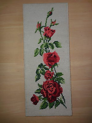 Tapestry Completed Roses Steiner Freres Made In France Unframed 49 X 20 Cm