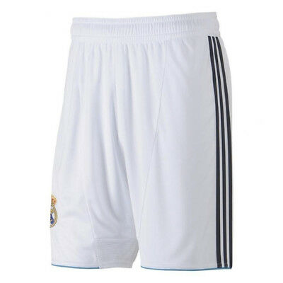 Real Madrid adidas climacool mens white home football team shorts 2012-13 X21990