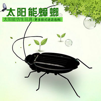 Children's 2016 Robot Toys Fun Educational Cockroach Solar Power Insect