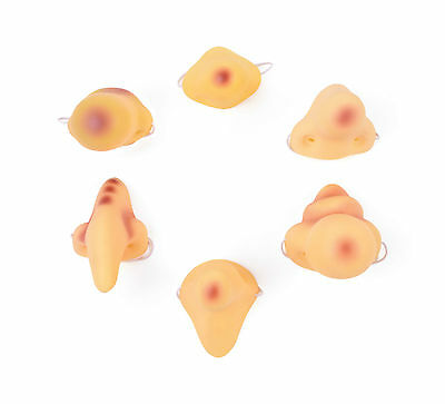 Halloween Fantasy Horror Bag Of 6 Vinyl Noses Witch #fancy Dress Accessory