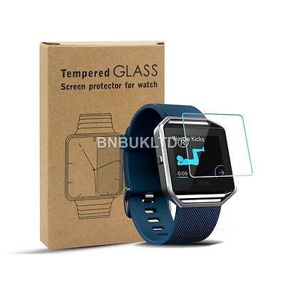 2 X 100% Tempered Glass Screen Protector for Fitbit Blaze Fitness Watch