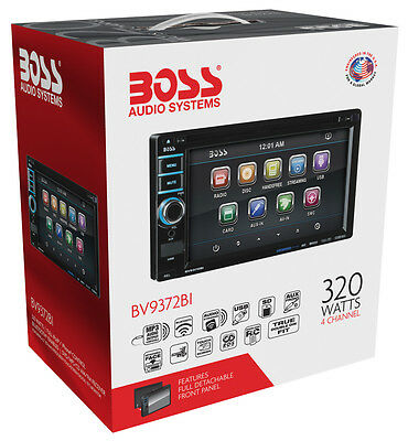 "NEW Boss BV9372BI 6.2"" DVD/CD/MP3 Touchscreen Car Stereo Double Din AM/FM Radio"