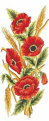Grafitec Printed Tapestry/Needlepoint Canvas – Poppies & Wheat