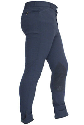 John Whitaker Men's Self Seat Suedette Breeches - Navy, Brown, White & Beige