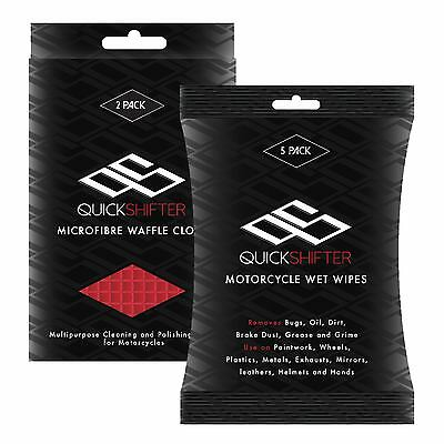 Quick Shifter Motorcycle Cleaning Wipes Novice Bundle