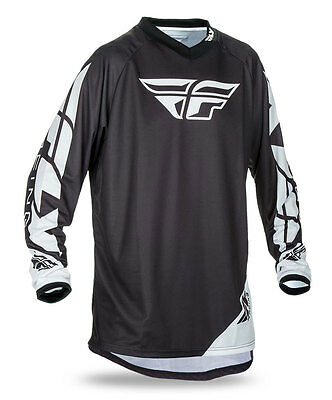 FLY RACING MX Motocross MTB BMX 2017 UNIVERSAL Jersey (Black) 4XL (4X-Large)