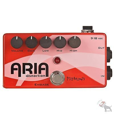 Pigtronix Aria Disnortion Diode Distortion Overdrive w/ EQ Guitar Effects Pedal