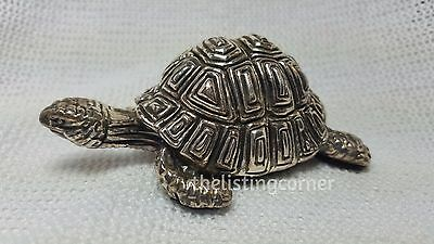 Vintage 925 SC Silver Clad Tortoise Turtle Figurine Collectible