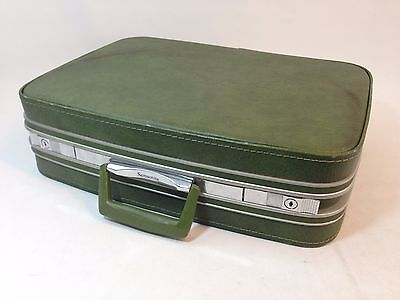 Vintage 1970s Samsonite Fashionaire Green Hard Shell Luggage Suit Case