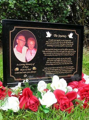 Personalised Memorial, Bereavement, Sympathy Grave Plaque, Gift - Mum & Dad