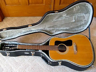 vintage 1975 Guild G-212 12-string Acoustic Guitar Made in the USA with HSC