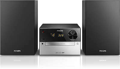 Micro-Cadena Philips MCM2300 Reproductor CD y MP3 USB Radio FM Ampli Estereo 15W