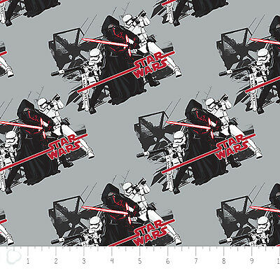 "SCRAP STORM TROOPERS FABRIC  STAR WARS  THE FORCE AWAKENS CAMELOT  12/"" REMNANT"