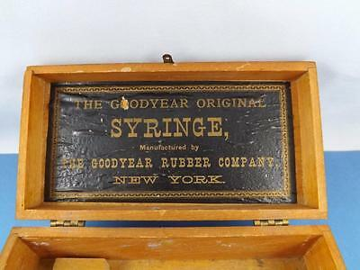 Goodyear Original Syringe Wood Box Goodyear Rubber Company New York Auto Tires