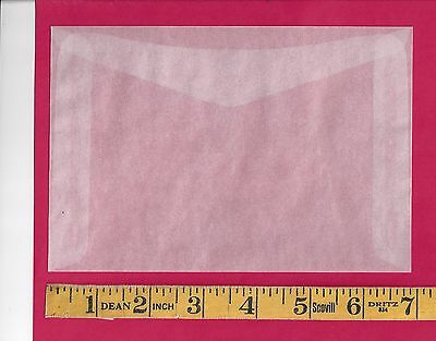 "50 NEW JBM #8 Glassine Envelopes 4-1/2"" x  6-5/8"""