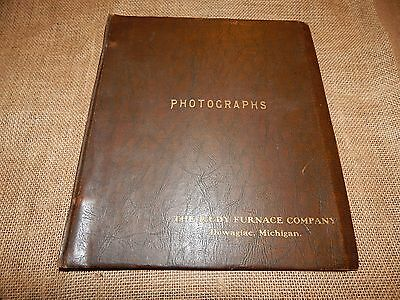 Antique Photograph book The RUDY FURNACE Co Dowagiac, Michigan foldout pictures