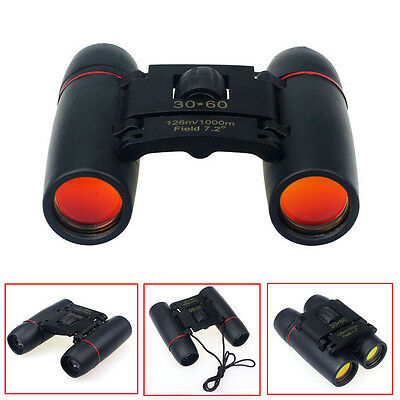 30x60 Mini Zoom Outdoor Binoculars Folding Day Night Vision Telescopes portable