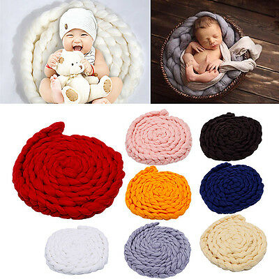 Newborn Baby Soft Photography Photo Prop Infant Backdrop Knit Throw Blanket Rug