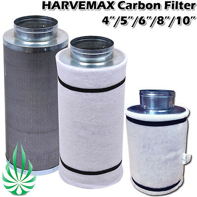 Hydroponics 4/5/6/8/10in Carbon Filter Virgin Carbon Fo Grow Tent Smell Clean