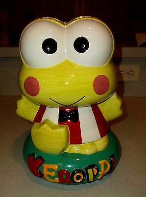 Rare Sanrio Keroppi Cookie Jar Ceramic