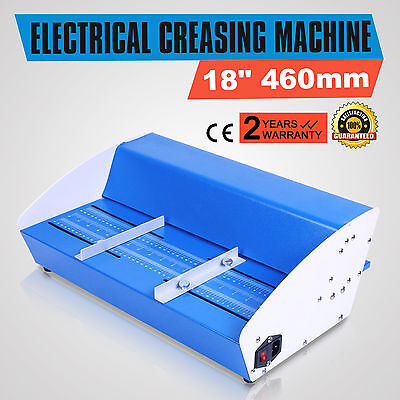 "460mm Metal Electric 18"" Creaser Scorer Perforator Paper Creasing Machine 3-in-1"